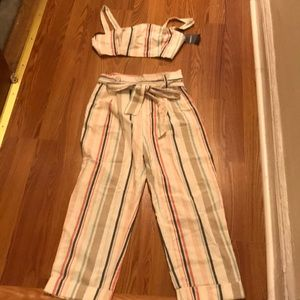 Forever 21 striped summer 2 piece outfit - NWT